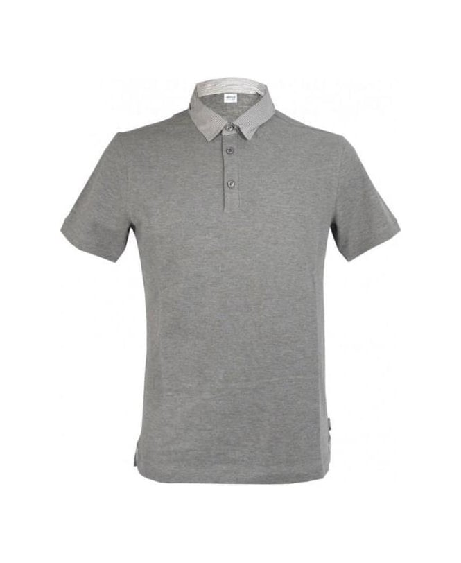 Armani Grey Small Collar Polo
