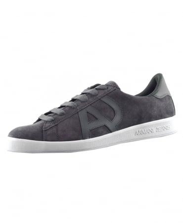 Armani Jeans Grey Sneaker Low Cut Trainers