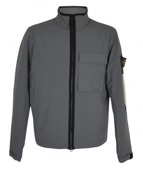 Stone Island Grey Soft Shell With Primaloft Jacket