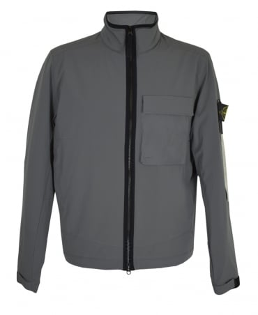 Stone Island Grey Soft Shell With Primaloft Jacket
