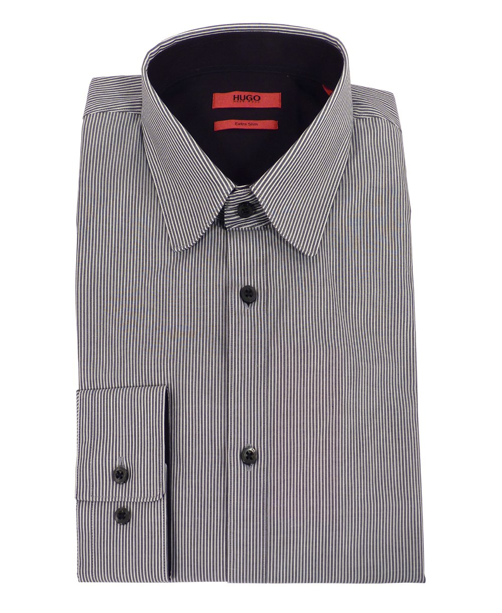 hugo grey stripe extra slim fit shirt hugo from jonathan trumbull uk. Black Bedroom Furniture Sets. Home Design Ideas