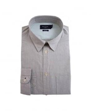 Paul Smith  Grey Stripe LS Standard Fit Shirt