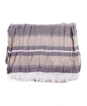 Hamaki-Ho Grey Stripe Pashmina Scarf