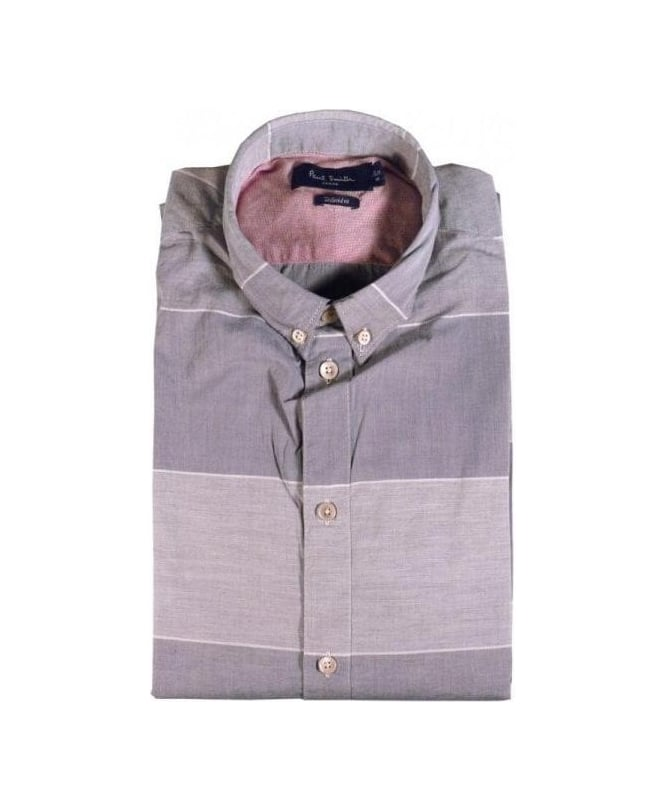 Paul Smith Grey Stripe Tailored Fit Shirt
