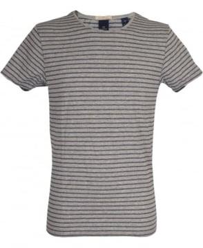 Scotch & Soda Grey Striped 'Combo B' T/Shirt