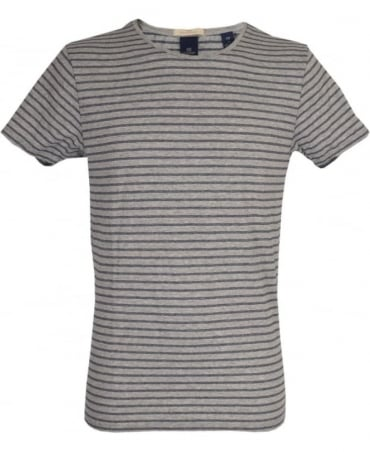 Scotch & Soda Grey Striped 'Combo B' T/Shirt