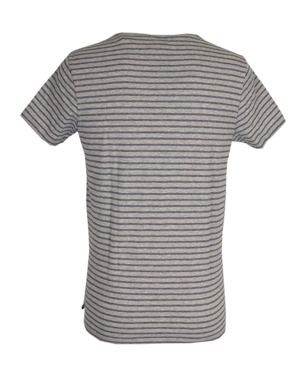 Scotch soda grey striped 39 combo b 39 t shirt scotch Grey striped t shirt