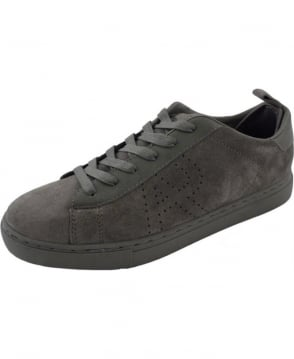 Armani Grey Suede with Leather Trims B652752 Trainer Shoe