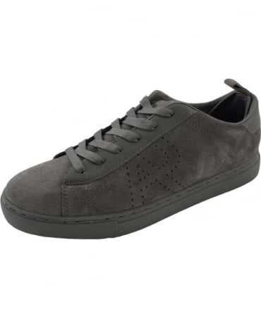 Grey Suede with Leather Trims B652752 Trainer Shoe