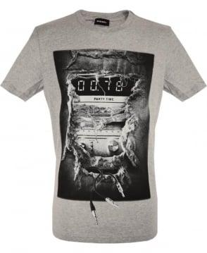 Diesel Grey T-Joe Graphic print T-Shirt