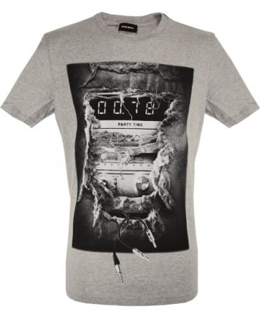 Diesel Grey T-Joe Graphic print T-Shirt