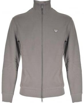Armani Jeans Grey Textured Full Zip Sweatshirt
