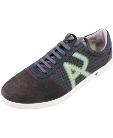 Armani Grey Trainers V6539 38