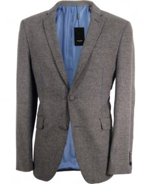 Holland Esq Grey Trend SB2 Contrast Stitch Jacket
