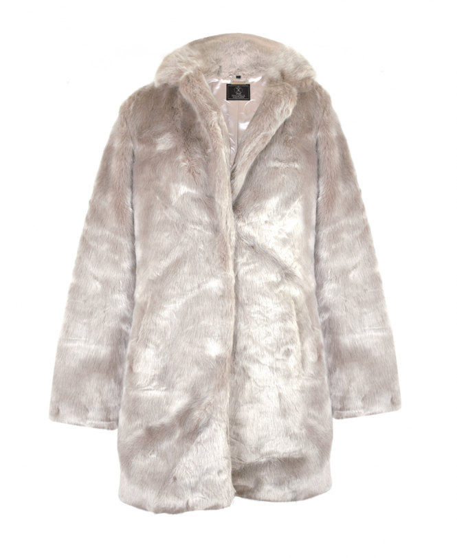 8c9c836d4b7e Rino & Pelle Grey Tylia Faux Fur Coat - Outerwear from Jonathan ...
