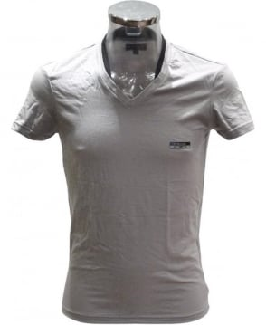 Emporio Armani  Grey V-Neck 'Underwear' T-Shirt