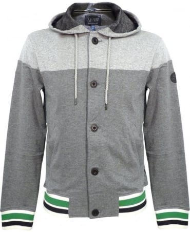 Armani Grey V6M41HV Hooded Sweatshirt