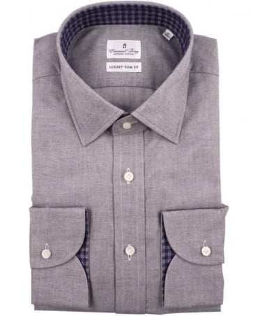 Emanuel Berg Grey Warsaw 215-027 Luxury Slim Fit Shirt