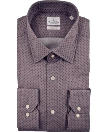 Emanuel Berg Grey Warsaw Polka Dot Shirt