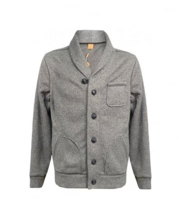Hugo Boss Grey Whool 50254372 Sweatshirt Jacket
