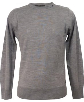 Replay Grey Wool Blend Pullover