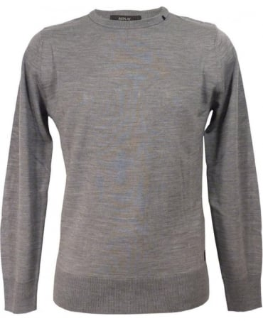Grey Wool Blend Pullover