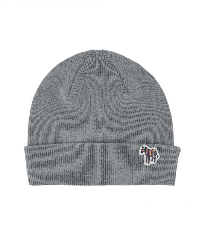 PS Paul Smith Grey Wool Zebra Beanie Hat - Hats from Jonathan Trumbull UK e02c0744067