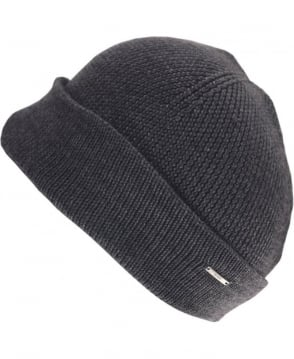 Hugo Grey Xiann Side Logo Beanie