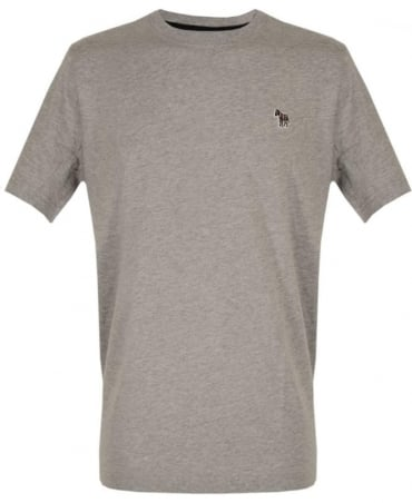 PS By Paul Smith Grey Zebra Embroidered Chest Logo T-shirt