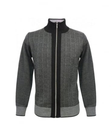 Hamaki-Ho Grey Zip Up Cardigan MI834H