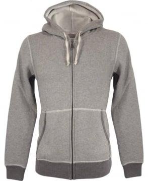 Scotch & Soda Grey Zip-up Hooded Sweatshirt