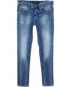 Replay Grover Straight Fit Jeans In Blue
