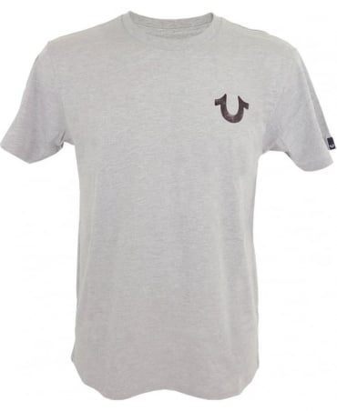 True Religion Hand Picked Double Puff T-shirt In Grey