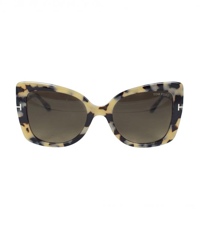 88e9a39c0779f Tom Ford Havana Gianna Sunglasses - Sunglasses from Jonathan Trumbull UK