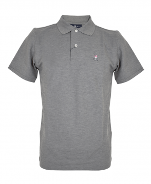 Psycho Bunny Heather Grey Classic Polo Shirt
