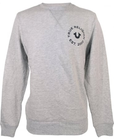 True Religion Heather Grey MYBC7221K Sweatshirt