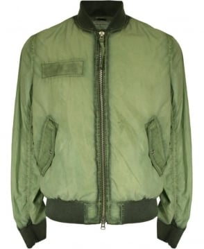 True Religion Hedge Green M17S J22E3G Bomber Jacket