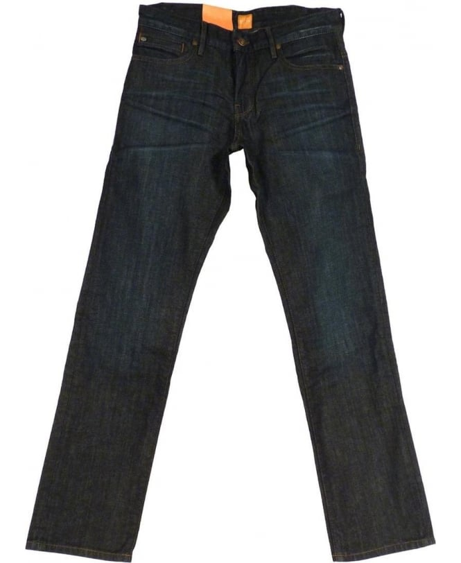 Hugo Boss Hugo Boss Orange 24 Barcelona Trunk Regular Fit Jeans In Dark Blue