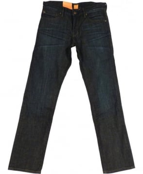 Hugo Boss Orange 24 Barcelona Trunk Regular Fit Jeans In Dark Blue