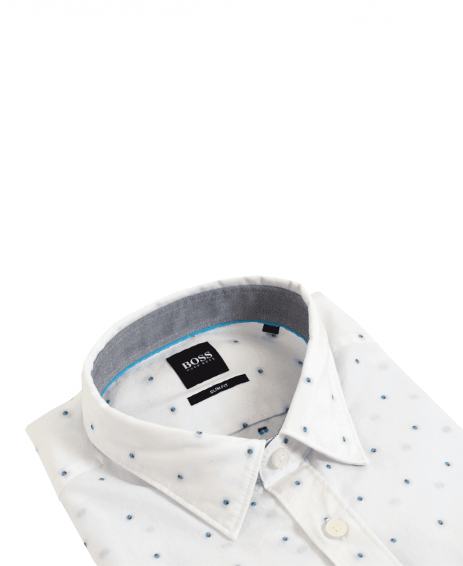 d6bdae676 White Ronni Dot Pattern Shirt