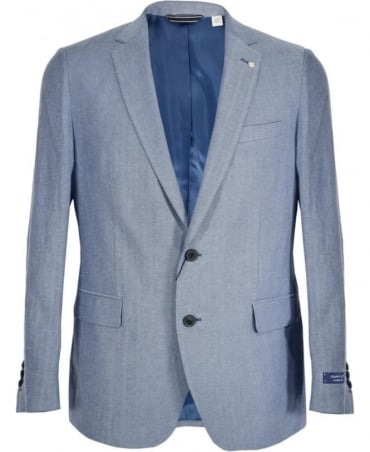 Gant Hurricane Blue Herringbone Jacket