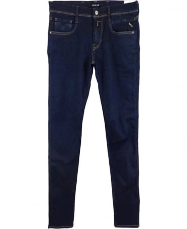 Replay Hyperflex Anbass Slim Fit Jeans In Blue