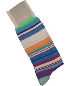 Paul Smith - Accessories ight Green Skinny APXA-380A-K198 Stripe Socks