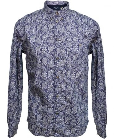 Paul Smith - Jeans Indigo Abstract Pattern Shirt JKFJ/054N/719