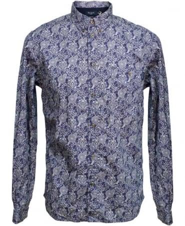 Paul Smith - Jeans Indigo Abstract Pattern Shirt JKFJ/054N/719