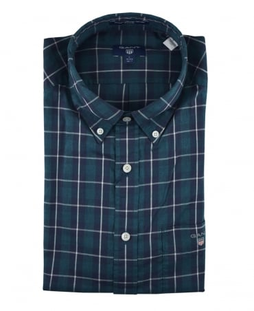 Gant Ivy Green Check Heather Pinpoint Oxford Shirt