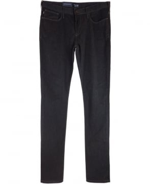 Armani Jeans J06 Slim Fit Cotton Jeans In Charcoal