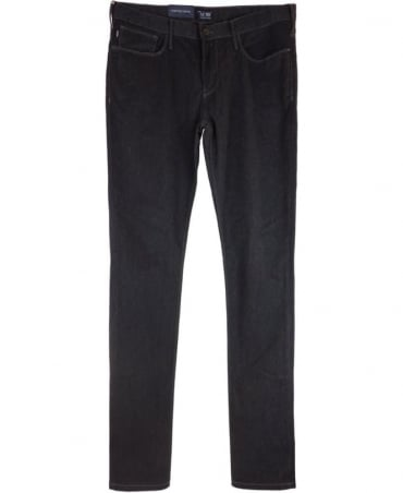 Armani J06 Slim Fit Cotton Jeans In Charcoal