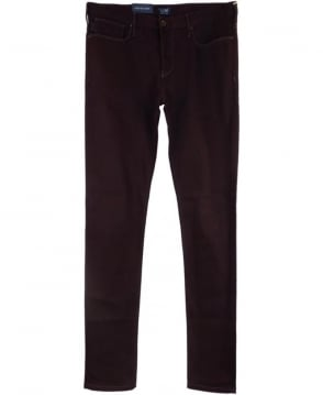 Armani Jeans J06 Slim Fit Jeans In Burgundy