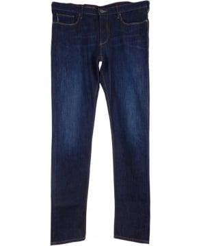 Armani J06 Slim Fit Jeans In Dark Blue